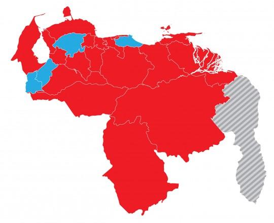 Estados con mayoría de votos de la Revolución